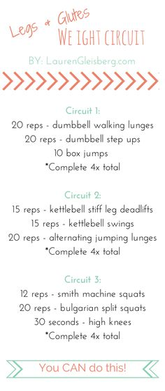 Legs & Glutes Weights Circuit