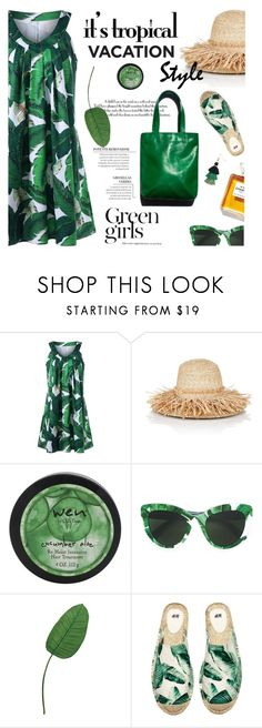 """""""Welcome to Paradise: Tropical Vacation"""" by lacas ❤ liked on Polyvore featuring Lola, Garance Doré, Dolce&Gabbana, Chanel, H&M, tropicalprints and TropicalVacation"""