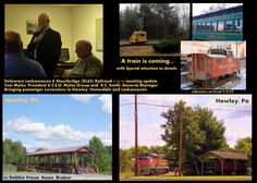 Passenger train rides coming back to Hawley, Honesdale & Lackawaxen scheduled May 9, 2015. Passenger excursion trains are expected to be passing back and forth between Honesdale and Hawley with trains embarking from either point, as well resumed trips to Lackawaxen. Plus Future may incl. dining cars catered by local restaurants, other specialty cars, ice cream train popular with kids, etc..  Read more: http://www.neagle.com/article/20150115/News/150119896#ixzz3OxGD25Pg