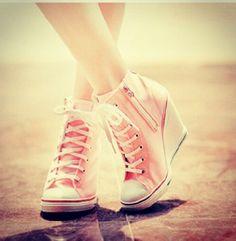 Cute converse heel sneakers.