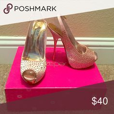 Shoes Blush and gold colored high heels new never used from shoe dazzle still have the box Shoes Heels