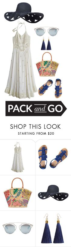 """""""Summer Time"""" by asifa-nur-aisyah ❤ liked on Polyvore featuring Calypso St. Barth, Dorothy Perkins, Tory Burch, Christian Dior, Packandgo and greekislands"""