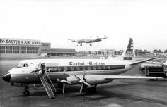 Chicago Midway Airport - Capital Airlines - Viscount 745D | Flickr