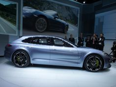Porsche showed off a new concept at the 2012 Paris Motor Show, a shooting-brake-style car with a plug-in hybrid drive system. With less of a bubble butt than the production Panamera, it will likely still invite controversy. via @CNET