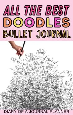 Never run out of doodle ideas for your bullet journal with our ultimate list of doodle tutorials! #doodles #bulletjournalideas #bujo Bujo Doodles, Cool Doodles, Simple Doodles, Bullet Journal And Diary, Bullet Journal Printables, Journal Stickers, Art Journal Pages, Doodle Quotes, Doodle Ideas