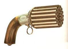 Pistole (20)1850's Pepper Box, 24-Barrel Percussion  Cap