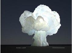 nuke lamp by veneridesign on shapeways $1727 bless. OR white cloth, starch paste, run-cool lightbulb?
