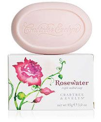 Crabtree & Evelyn Rosewater Single Bar Milled Soap (3.3 oz/85g)