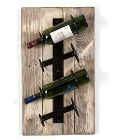 Another great find on #zulily! White Vertical Wine Rack by DelHutson Designs #zulilyfinds