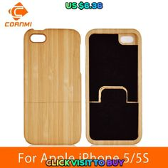 Best CORNMI For iPhone 5 SE Case Wood Real Bamboo Mobile Phone Bags Capa Covers Cases For iPhone 5 S 5S Housing Protector LTH