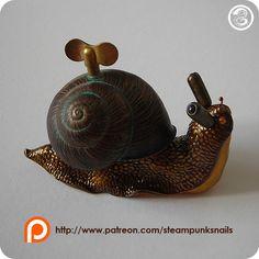 #clockpunk #snail