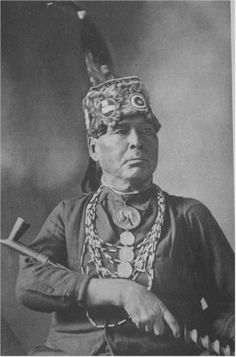 Simon Kanquados  Potawatomi Chief, Rat River, Wisconsin, but no date