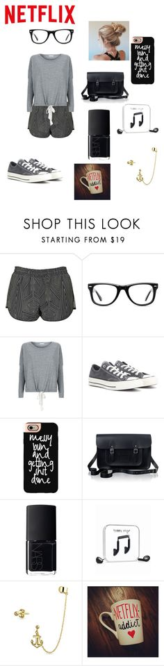 """""""Lazy Day"""" by franci-romeo ❤ liked on Polyvore featuring Topshop, Muse, Eberjey, Converse, Casetify, The Cambridge Satchel Company, NARS Cosmetics, Happy Plugs and Bling Jewelry"""