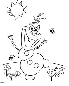 Just Coloring Pages: Olaf coloring pages from frozen Printable coloring sheets - Frozen Coloring Pages, Summer Coloring Pages, Colouring Pages, Free Coloring, Coloring Pages For Kids, Coloring Books, Kids Coloring, Online Coloring, Olaf Frozen