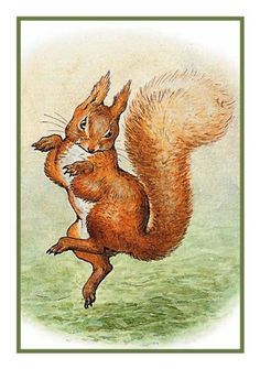 Squirrel Nutkin inspired by Beatrix Potter Counted Cross Stitch or Counted…
