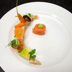 Couscous, gerookte zalm, basilicum, wortel en venkel - Hap en Tap