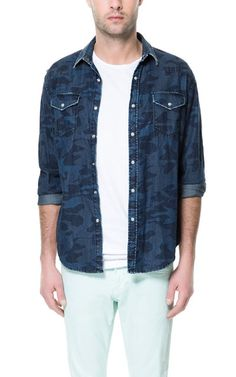 CAMOUFLAGE DENIM SHIRT - Casual - Shirts - Man | ZARA