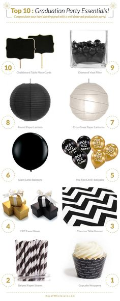 Top 10: Graduation Party Essentials « The Daily Design™ by Koyal Wholesale®: