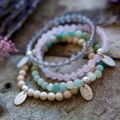 coloured stone bracelets