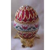 Tulips Herringbone Beaded Egg Pattern at Sova-Enterprises.com