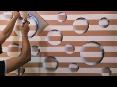 Create a beautiful and easy DIY 3D tape decor - YouTube 3d Wall Painting, Air Brush Painting, Painting Videos, Bob Ross Paintings, Diy 3d, False Ceiling Design, Youtube, Wall Design, Decoration