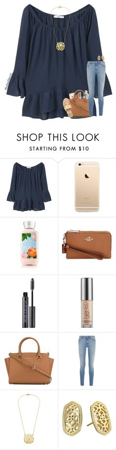 """""""•Please have mercy on me, take it easy on my heart•"""" by haleyfrancis ❤ liked on Polyvore featuring MANGO, Coach, Urban Decay, MICHAEL Michael Kors, Givenchy, Kendra Scott and Jack Rogers"""