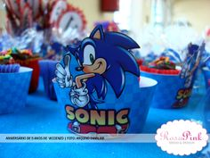 O cupcake wrapper do Sonic! ;-) - RosaPink - Design Criativo