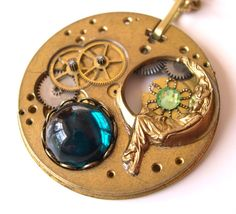 Steampunk Necklace Antique Pocket Watch by AmongTheRuins on Etsy, $51.00