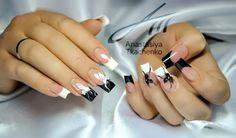 Anastasiya Besondere French Nails Motive gel  fingernägel  beispiele