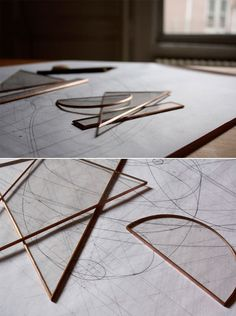 Copper & Glass Drafting Set