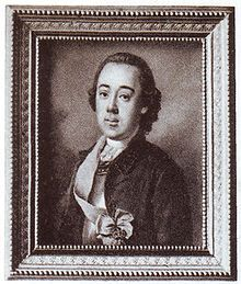 Count Sergei Vasilievich Saltykov, lived c. 1726 – 1765 was a Russian officer (chamberlain) who became the first lover of Empress Catherine the Great after her arrival to Russia.