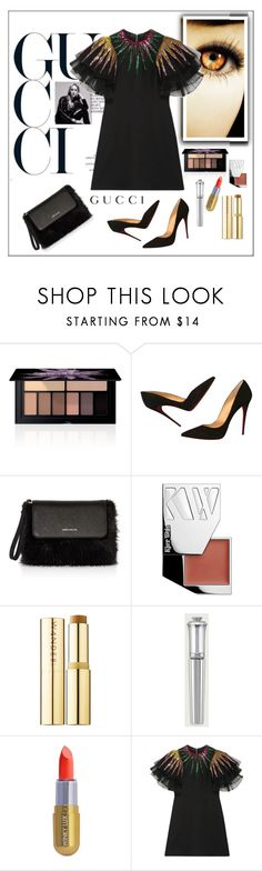 """""""Gucci Dress"""" by frenchfriesblackmg ❤ liked on Polyvore featuring Smashbox, Christian Louboutin, Karen Millen, Kjaer Weis, Wander Beauty, Morgan Lane, Winky Lux and Gucci"""