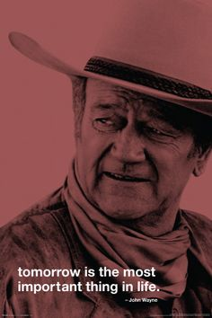 John Wayne-Tomorrow Póster