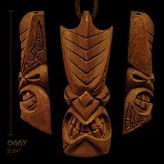 """Tiki pendant """"Oggy"""" by Rainforest Tiki, aka Daniel Scarcello"""