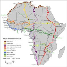 Trans-Africa overland routes