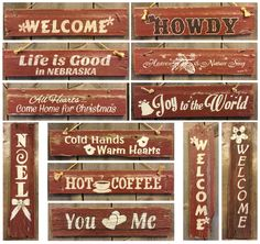 Sold - All Hearts Come Home for Christmas. Hand painted, reclaimed wood signs.