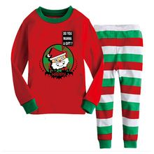 Childen's Pajamas Sets For Baby Boys & Girls Christmas Clothing Sets Kids Clothes Nightgown T-Shirt + Pants New 2016 CC269-HDR(China (Mainland))