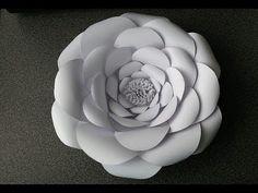 Adeline Giant Paper Flower - YouTube