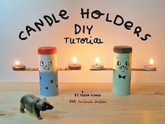 Handmade Folksy Tea Light Candle Holders...sooooper idea!!