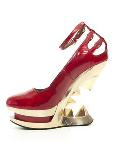 173b99c061a5 Sheen Iceberg Wedge Platform Pump Red by Hades at Inked Boutique. Sheen