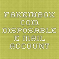 FakeInbox.com - Disposable E-mail Account Social Media Apps, Accounting