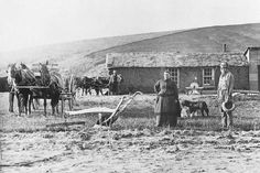 some people came west to own their own land and to farm it, raise a family and build a community.