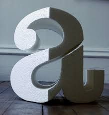 Image result for spatial typographic dewsign that can be seen from a specific viewpoint?