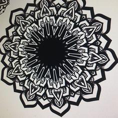 Mandala with stippling in Illustrator.