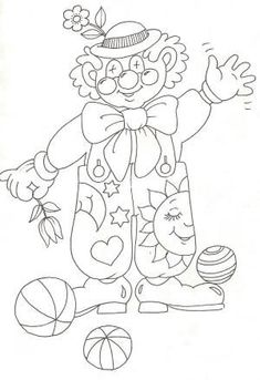 Coloring pages for kids to print - Clowns and circus coloring… Easy Coloring Pages, Online Coloring Pages, Coloring Pages For Kids, Adult Coloring, Coloring Books, Clown Crafts, Circus Crafts, Clown Pics, Circus Activities