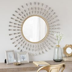 Espejo redondo de metal D. 75 | Maisons du Monde