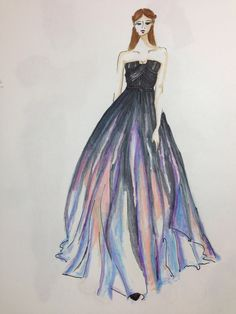 Elie Saab design, illustrated by Noa Nave.