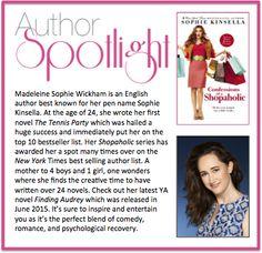 This week's #AuthorSpotlight: Sophie Kinsella #NewYorkTimes #Bestselling #Author #ShopaholicSeries