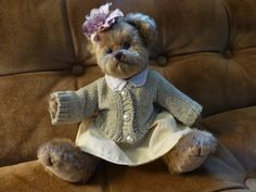 Sweet Bearington Bear with Original Clothing  by ChicAvantGarde, $25.00