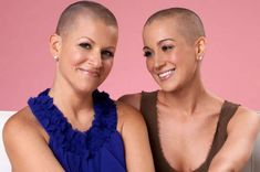 Beautiful.  Standing by your best friends side and shaving your head in support of her trial is beautiful. Cancer awareness and women united in sisterhood for a cause is beautiful. Cancer is ugly, but support is beautiful.